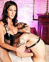 Morgan smoking oral. Dirty dominatrix Morgan punish a guy